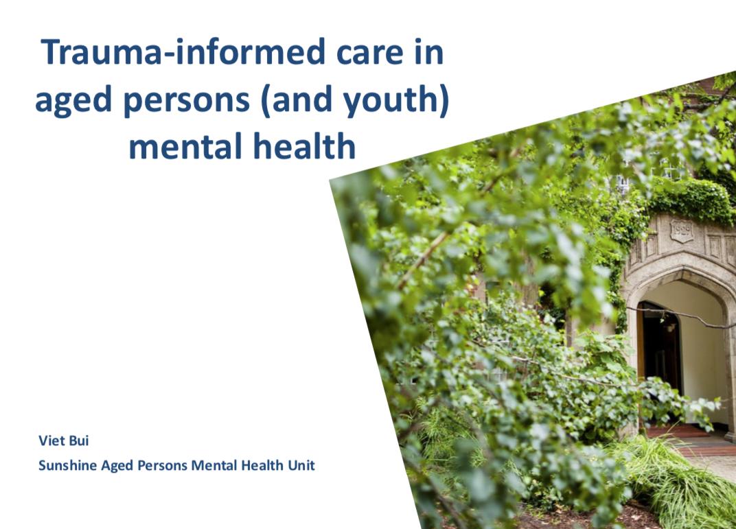 Viet Bui-Trauma informed care