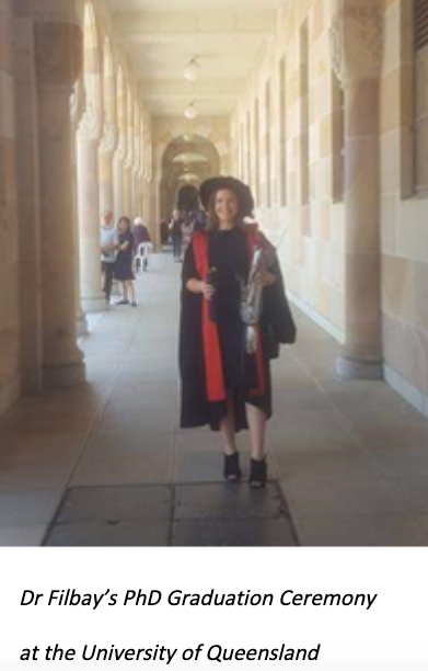 Dr Filbay's PhD Graduation Ceremony at the University of Queensland