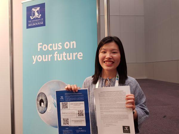 Photograph of Vanessa Tang advertising survey